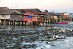 Houses on Stilts in Penang, Malaysia Stock Photography