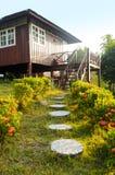 Houses on stilts Stock Photo