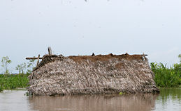 Houses on Stilts. Rise above Amazon River Basin near Iquitos, Peru royalty free stock images