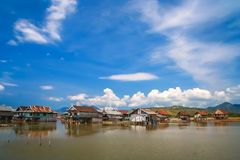 Houses on stilts in Sumbava. Village containing of small homes on stilts in the Sumbava Island, Indonesia stock photos