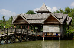 Houses on stilts in Thailand Stock Image