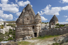 Houses from stone. Ancient houses from stone in Cappadocia Turkey Stock Photo