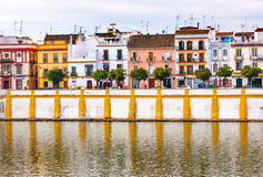 Houses Stores Cityscape River Guadalquivr Seville Spain Royalty Free Stock Photography