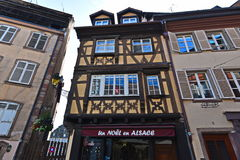 Houses and stores in the old town area Strasbourg Royalty Free Stock Images