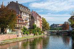 Houses of Strasbourg in the morning Royalty Free Stock Photo
