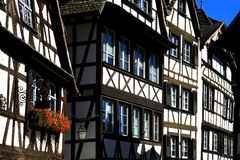 Houses in Strasbourg Petite France. The typical petite France neighborhood and houses in Strasbourg, France Royalty Free Stock Photos