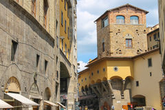 Houses on the street of the ancient Italian city Florence Stock Photo