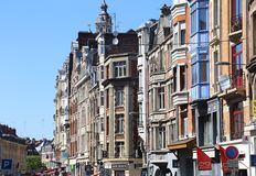 Houses in a street in Lille, France Royalty Free Stock Photography