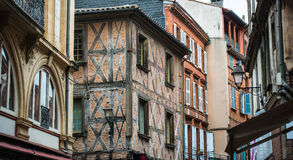 Houses on the street of Lyon Royalty Free Stock Photos