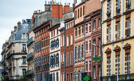 Houses on the street of Lyon Stock Photography