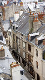 Houses in street near the river Loire in Blois Stock Photography