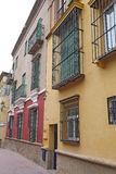 Houses on a street in Seville, Spain Stock Photography
