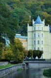Houses and streets of Karlovy Vary Royalty Free Stock Image