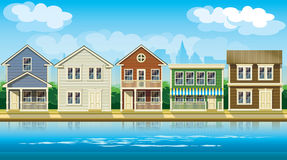Houses suburb Royalty Free Stock Photos