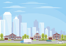 The houses in the suburbs Stock Image