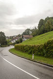 Houses surrounded by meadows Royalty Free Stock Photography