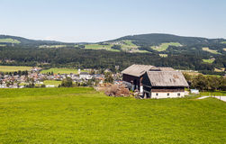 Houses surrounded by meadows Stock Image