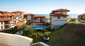 Houses from Sveti Vlas, Bulgaria Royalty Free Stock Image