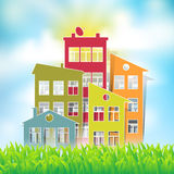 Houses symbols Royalty Free Stock Images