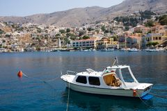 Houses on symi island Stock Photography