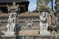 Houses temples in Ubud, Bali Stock Image