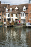 Houses on the Thames. These a some houses on the Thames at Windsor Stock Photo