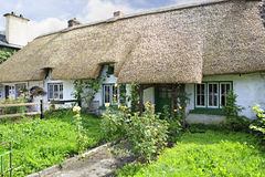Houses with thatched roof of first half nineteenth Stock Image