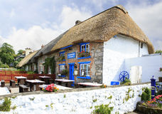 Houses with thatched roof of first half nineteenth Stock Photo
