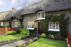 Houses with thatched roof of first half nineteenth Stock Images