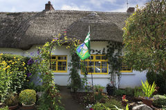 Houses with thatched roof of first half nineteenth Stock Photos