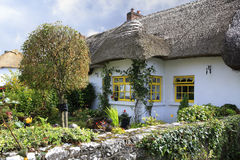 Houses with thatched roof of first half nineteenth century Royalty Free Stock Photos