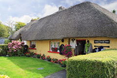 Houses with thatched roof of first half nineteenth century Stock Images