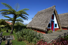 Houses with thatched roofs Stock Images