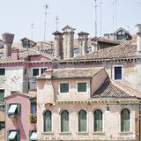 Houses with their typical chimneys, Venice, Italy Stock Image