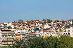 Houses in Thessaloniki city, Greece Stock Photos