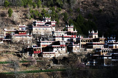 Houses of tibetan tribe Royalty Free Stock Photography
