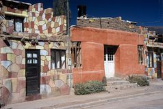 Houses in Tilcara,Salta,Argentina. Houses and a street in Tilcara village,Salta,Argentina Stock Photos