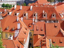Houses with tiled roofs Royalty Free Stock Images