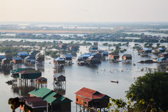 Houses in tonle sap. Siem reap, cambodia Stock Photos