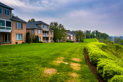Houses on top of a large hill in Lemoyne, Pennsylvania. Royalty Free Stock Photography