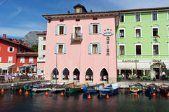 Houses in torbole on the lake garda Royalty Free Stock Photography