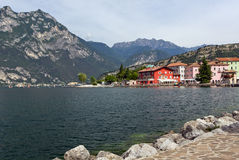 Houses in torbole on the lake garda Royalty Free Stock Image
