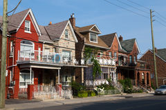 Houses in Toronto stock photography