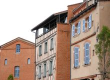 Houses in Toulouse Stock Image