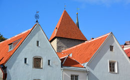 Houses and Tower of Toompea Castle Stock Photos