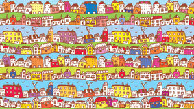 Houses in the town funny background Stock Photo