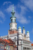 Houses and Town Hall in Old Market Square, Poznan. Poland Royalty Free Stock Image