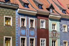 Houses and Town Hall in Old Market Square, Poznan, Poland Stock Photography