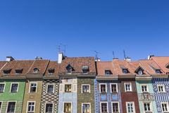Houses and Town Hall in Old Market Square, Poznan, Poland Royalty Free Stock Photography