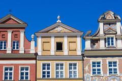 Houses and Town Hall in Old Market Square, Poznan, Poland Stock Image